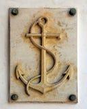 seglar baltiska tyska gammala för ankare tagen havsshipstralsund Arkivbilder