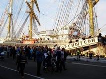 seglar den mörka losed regattaseglingen för blå färg skysportvinnaren Royaltyfri Foto