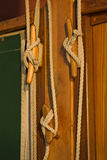 seglar maritim rigging för detaljer Royaltyfri Bild