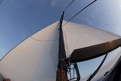 seglar skyen Arkivbild