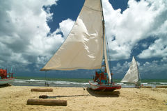 segling för fartygbrazil fiskare s Fotografering för Bildbyråer