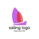 Segling Logo Vector Royaltyfri Bild