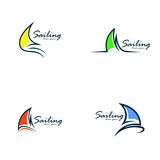 Segling Logo Vector Royaltyfri Fotografi