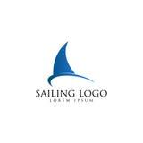Segling Logo Vector Arkivbild
