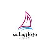 Segling Logo Vector Arkivbilder