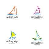 Segling Logo Vector Royaltyfria Bilder