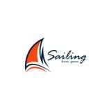 Segling Logo Vector Royaltyfri Foto