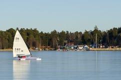 SeglingDN-iceboat Arkivbild