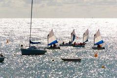 Seglingkurs på havet Fotografering för Bildbyråer