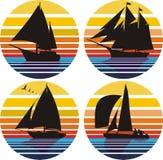 seglingsegling stock illustrationer