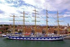 Seglingskepp i Venedig, ITALIEN Arkivfoto