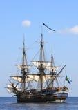 Seglingskepp på havet Arkivbild