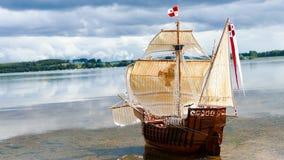 Seglingskeppmodell - hand - gjorda Santa Maria Royaltyfri Fotografi