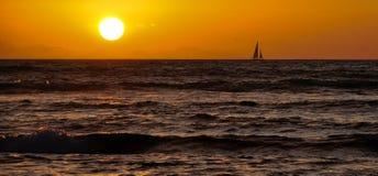 seglingsun till Royaltyfri Fotografi