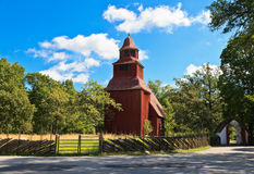 Seglora Church in Skansen. Seglora Church building in Skansen, Stockholm Stock Photos