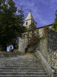 Segment av den gamla staden, Grobnik, Kroatien Royaltyfria Foton