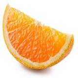 Segment av en orange frukt Arkivfoton
