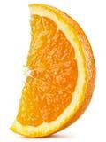 Segment av orange frukt Arkivbild