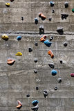 Segment of a climbing wall Royalty Free Stock Images