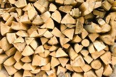 Segment de mémoire de bois de chauffage Image libre de droits