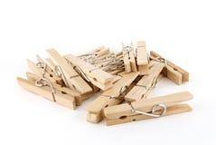 Segment de mémoire de broche en bois brune de tissu photographie stock