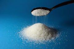 Segment de mémoire de sucre et d'une cuillère Photos stock