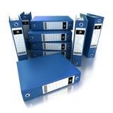 Segment de mémoire des cahiers de boucle bleus Photographie stock