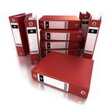 Segment de mémoire des cahiers de boucle rouges Photos stock