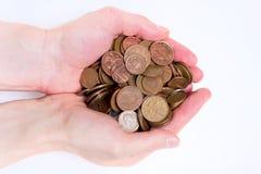Segment de mémoire des pièces de monnaie Images libres de droits
