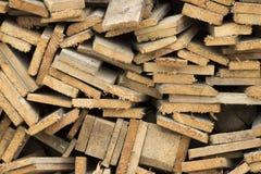 Segment de m?moire de bois de chauffage photo libre de droits