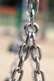 Segment för chain sammanlänkningar för stålmetall Royaltyfria Bilder