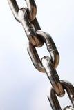 Segment för chain sammanlänkningar för stålmetall Royaltyfri Fotografi
