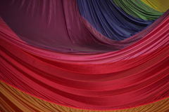 Segment of Folded Parachute Fabric in Beautiful Colors Royalty Free Stock Images