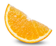 Segment of fresh orange isolated on white background Stock Image