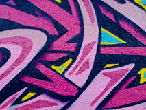 Segment of graffiti. On an air duct on the side of a derelict building Royalty Free Stock Photography