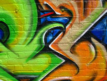 Segment of graffiti Stock Photography