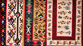 Segment of hand-woven carpets Stock Photography