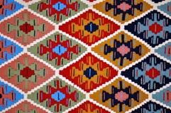 Segment of handmade carpets Royalty Free Stock Photography