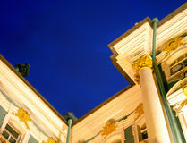 Segment of Hermitage at night. Segment of Winter Palace at night in Saint-Petersburg, Russia Royalty Free Stock Image