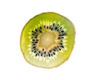 Segment of the kiwi. Object on a white background royalty free stock photos