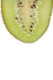 Segment of kiwi isolated on white Stock Image