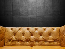 Segment Leather Sofa Upholstery With Copyspace. Close-up Segment Leather Sofa Upholstery With Copyspace Stock Photo