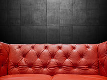 Segment Leather Sofa Upholstery With Copyspace Royalty Free Stock Images