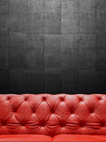 Segment Leather Sofa Upholstery With Copyspace Stock Images