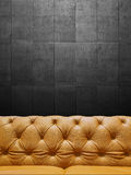 Segment Leather Sofa Upholstery With Copyspace Royalty Free Stock Photos