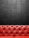 Segment lederner Sofa Upholstery With Copyspace Stockbilder