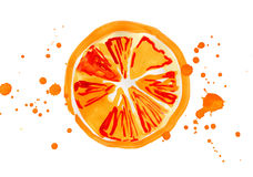 Segment of the orange Stock Images