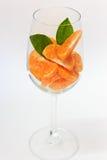 Segment orange en verre Photos stock