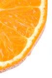 Segment orange sur un fond blanc Photo stock
