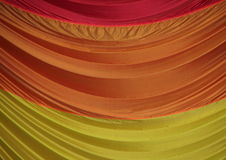 Segment of Parachute Fabric in Beautiful Colors Royalty Free Stock Images